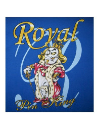 Royal Pin King Bowling T-shirt - CLOSEOUT
