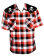 Skull Red Plaid Mens Rockabilly Shirt