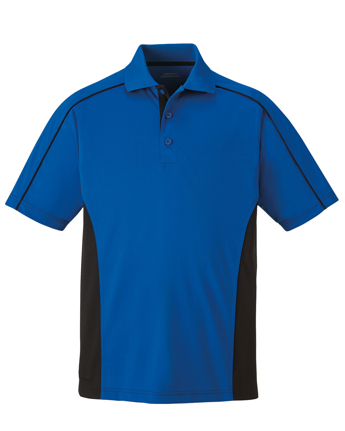 Mens Side Color Block Moisture Wicking Performance Polo Shirt
