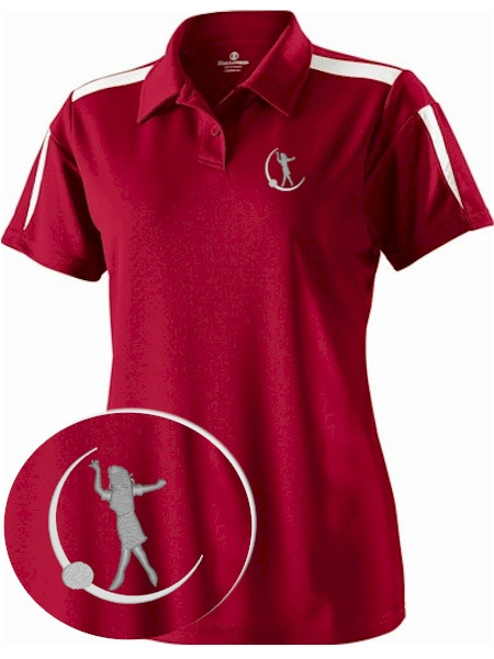 Womens Red Polo Shirts