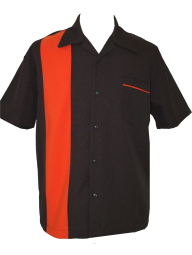 Bowling Shirt Black Orange