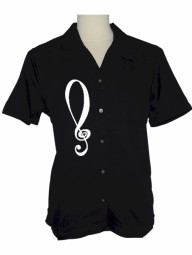 ladies-black-treble-clef-embroidered-button-up-jazz-shirt