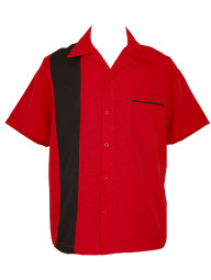 Red bowling shirt